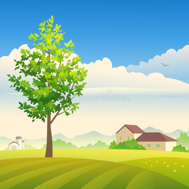 Exploração agrícola do verão ilustração royalty free