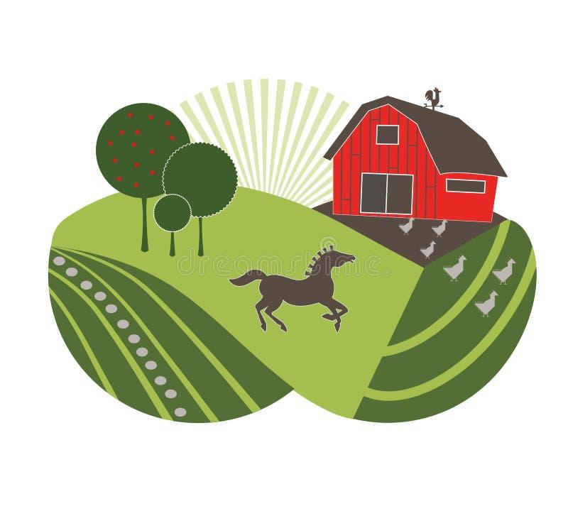 Exploração agrícola fresca ilustração do vetor