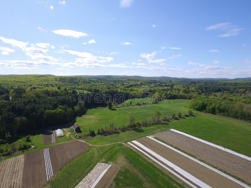 Exploração agrícola orgânica Nova Inglaterra imagens de stock