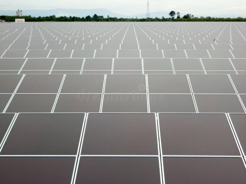 Exploração agrícola solar fotografia de stock