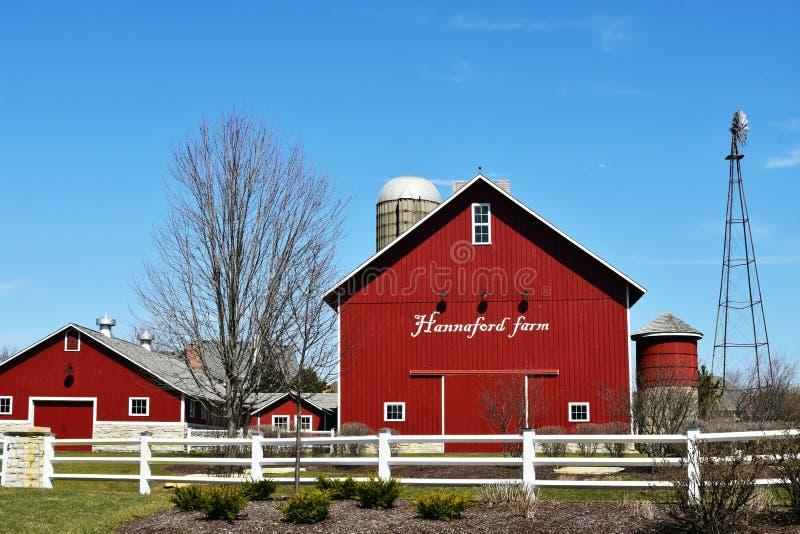 Exploração agrícola Sugar Grove de Hannaford, Illinois foto de stock royalty free