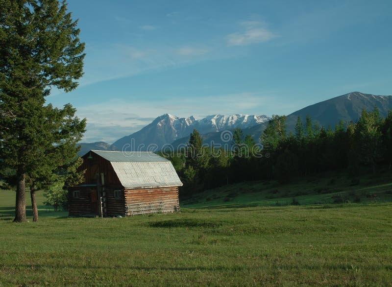 Exploração agrícola, vale do Rio Columbia, BC, Canadá imagens de stock