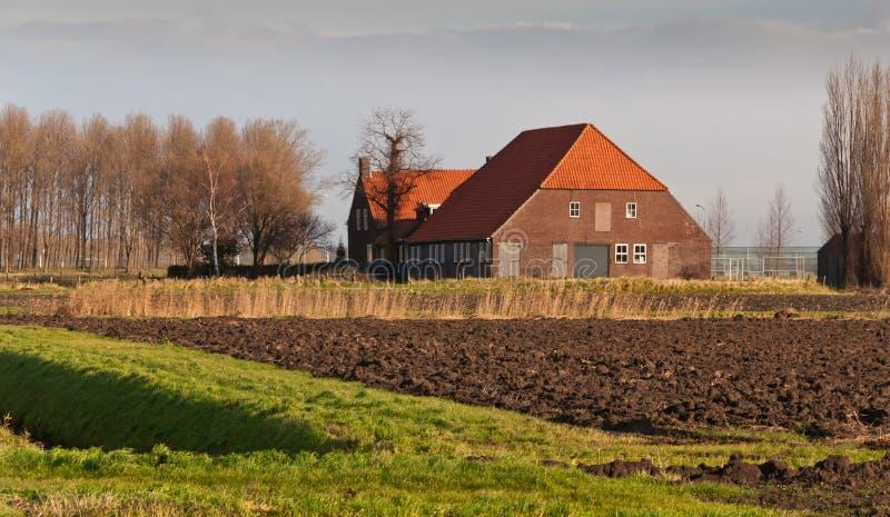 Exploração agrícola velha nos Países Baixos imagem de stock royalty free