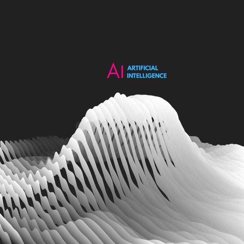 Exploração da cara Inteligência artificial Conceito futurista virtual Pode ser usado para o avatar, ciência, tecnologia ilustração do vetor