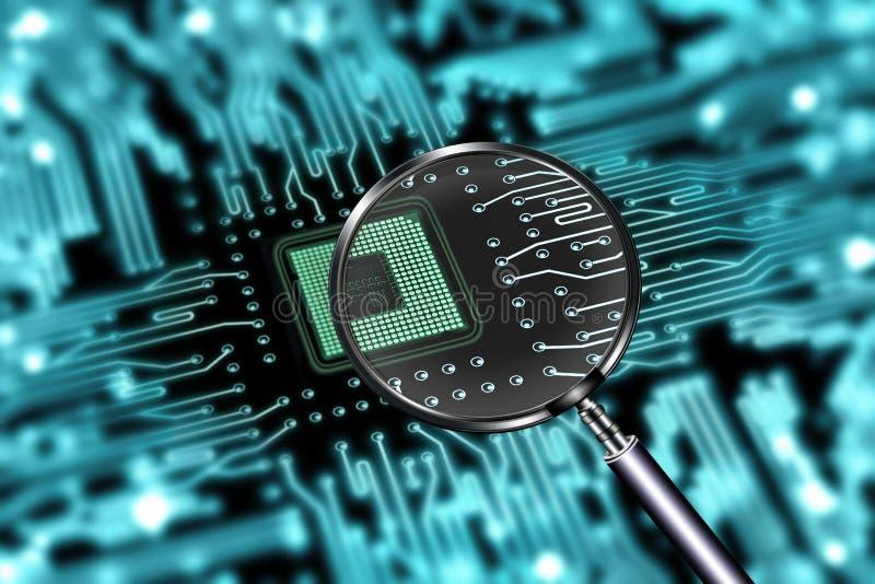 Exploração da micro microplaqueta fotografia de stock