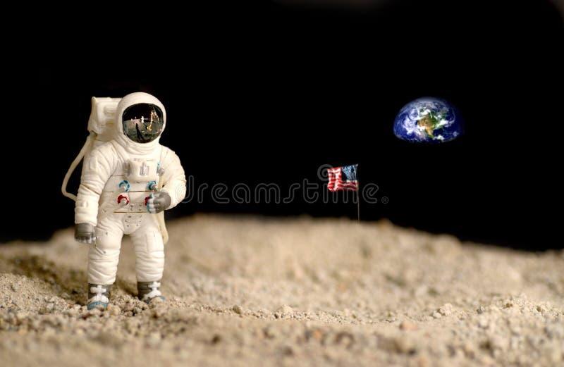 Exploração de lua foto de stock royalty free