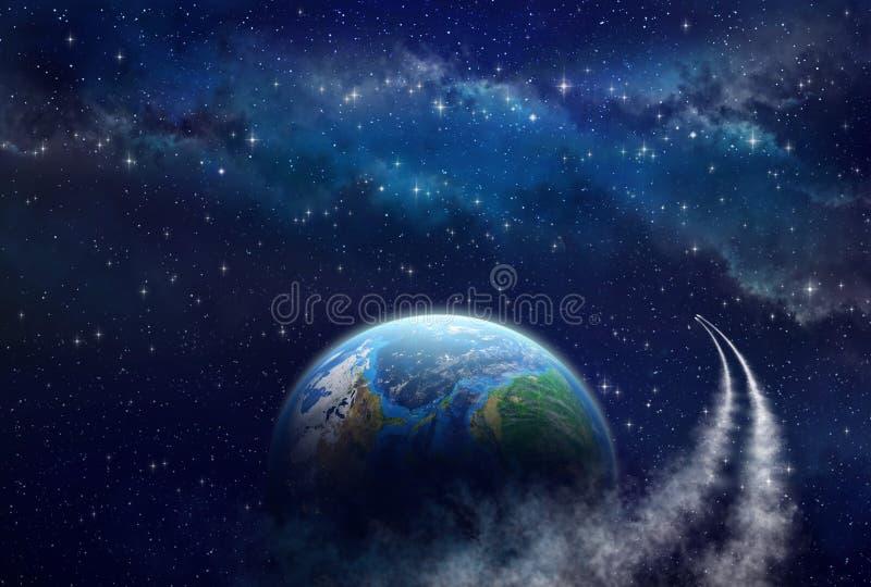 Exploração do espaço profunda ilustração royalty free