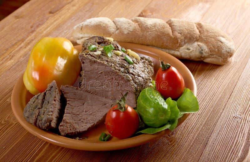 Exploração-estilo da carne assada imagem de stock royalty free