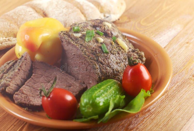 Exploração-estilo da carne assada foto de stock royalty free