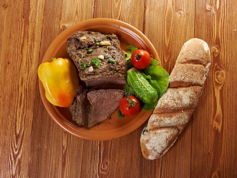 Exploração-estilo da carne assada fotografia de stock royalty free