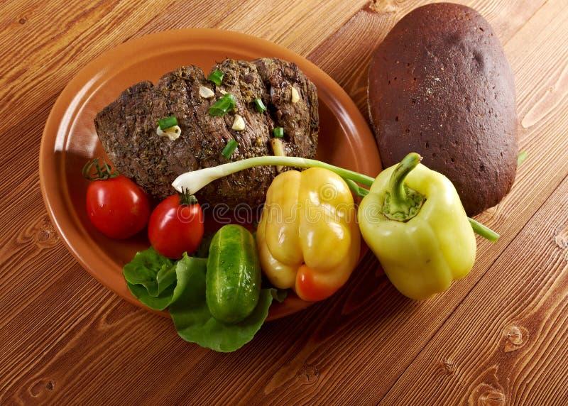 Exploração-estilo da carne assada imagem de stock