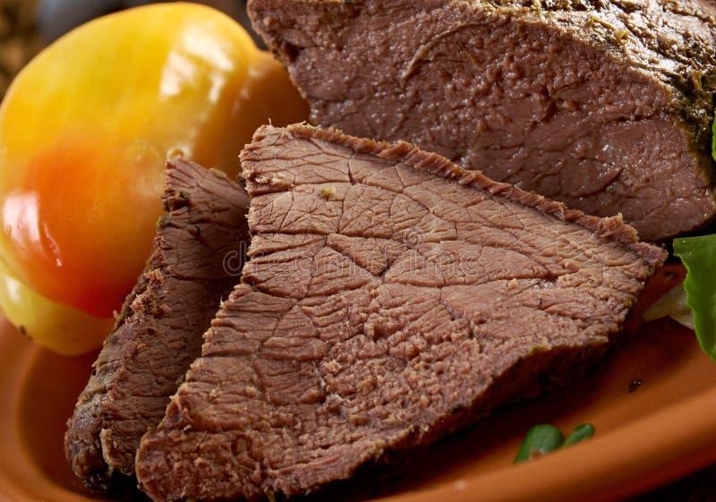Exploração-estilo raro cortado da carne assada fotos de stock