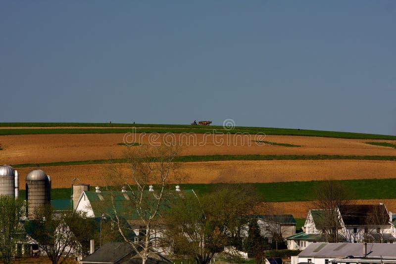 Explorações agrícolas no país de Amish foto de stock