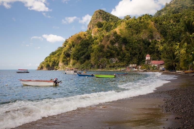 Explorações de Dominica fotos de stock
