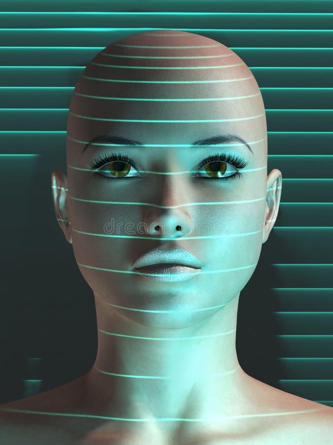 Exploración biométrica del ser humano ilustración del vector