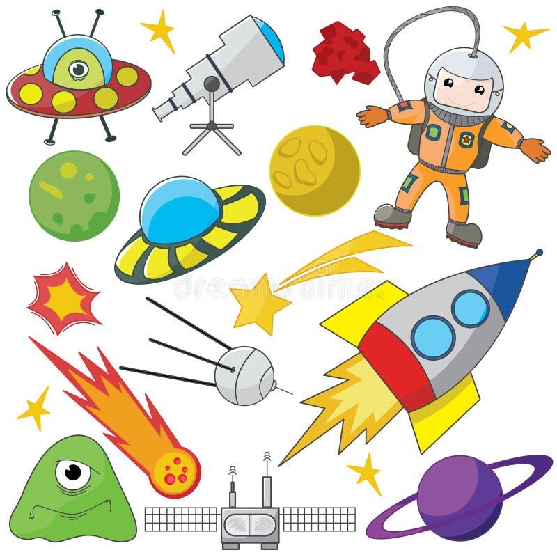 Exploración de espacio ilustración del vector
