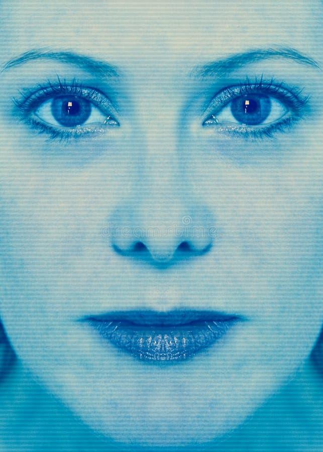 Exploración de la cara de la mujer foto de archivo