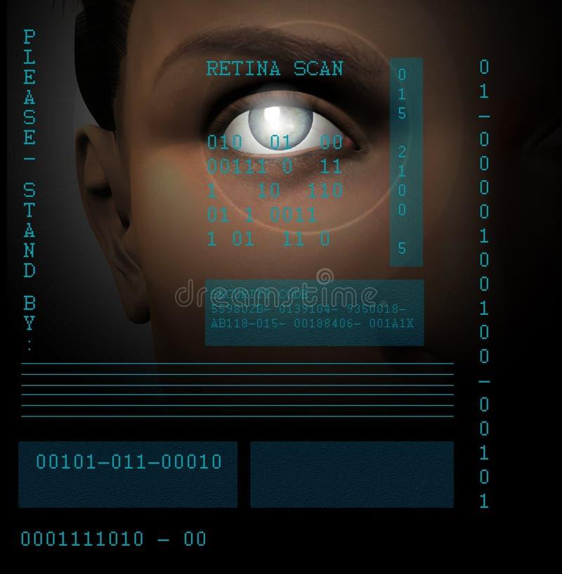 Exploración de la retina ilustración del vector