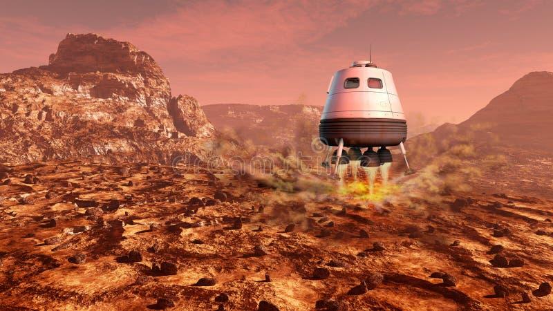 Exploración de Marte stock de ilustración