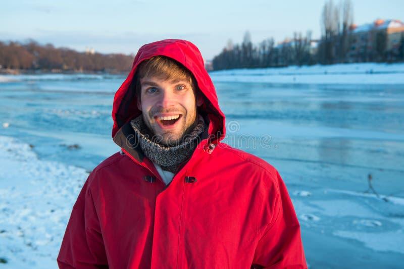 Exploración de regiones polares Fondo de hielo sólido transparente para el hombre Destinos de invierno Medidas de seguridad Polar fotos de archivo