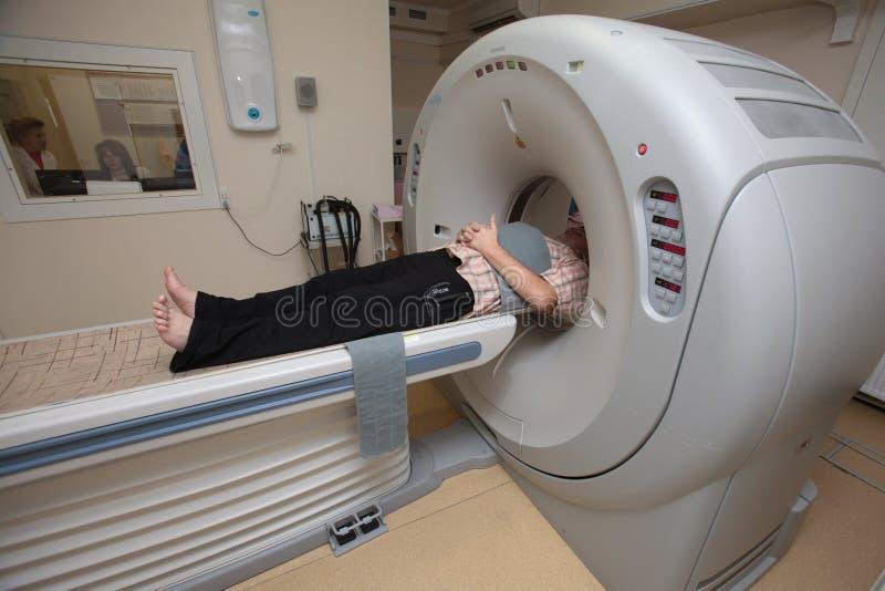 Exploración del CT foto de archivo