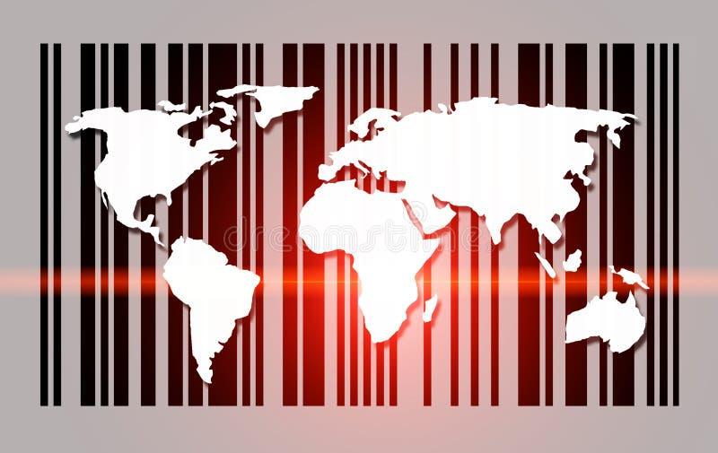 Exploración del mapa del mundo stock de ilustración