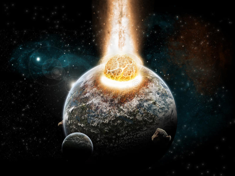 Exploración del universo - finales de la tierra del tiempo libre illustration