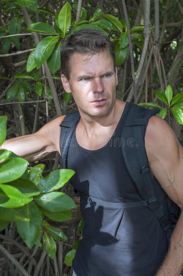 Explorador da selva fotografia de stock