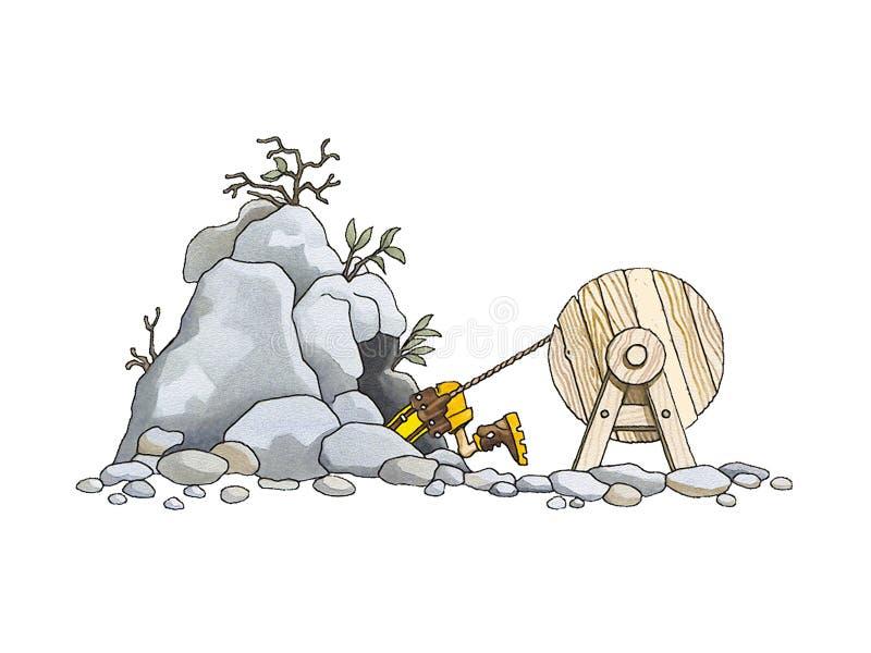 Explorador de la cueva (speleologist) libre illustration