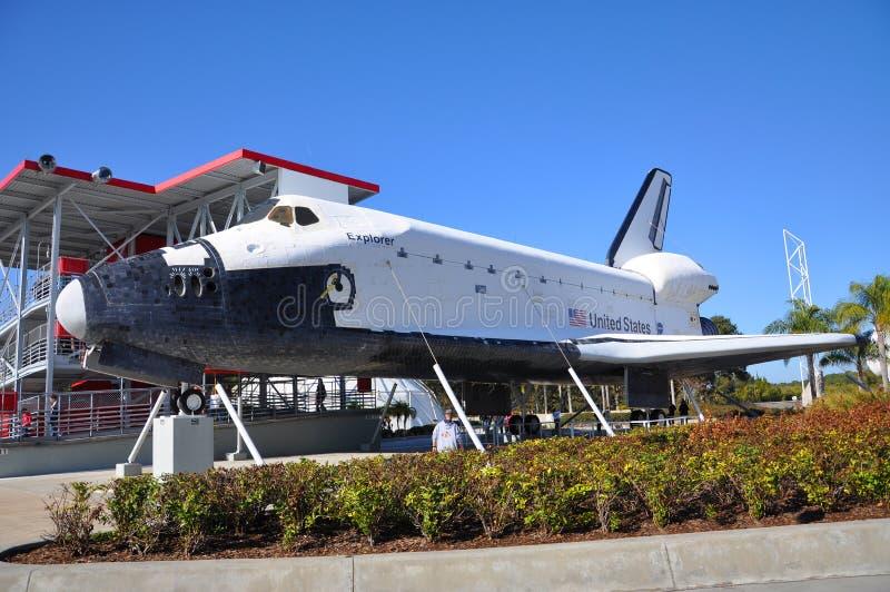 Explorador do vaivém espacial, Florida, EUA imagem de stock