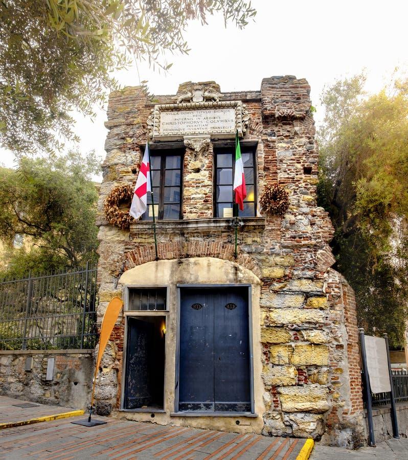 Explorador italiano de la casa de Génova Italia Liguria Christopher Columbus que descubrió el continente de América imagenes de archivo