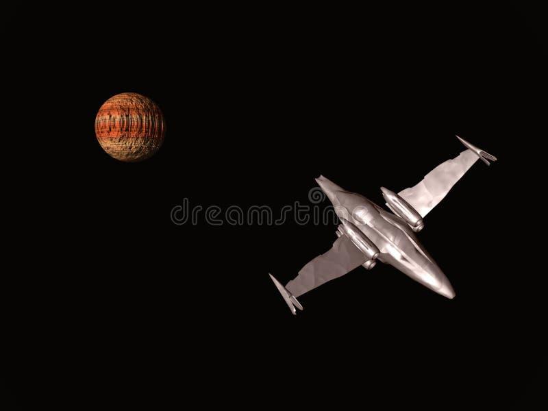 Explorateur astroïde illustration de vecteur