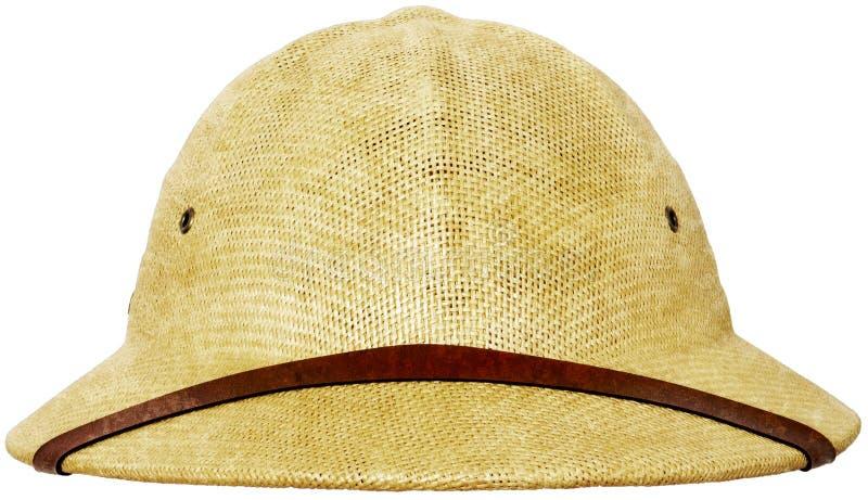Explorateur Hat Isolated, safari de casque de moelle photos libres de droits