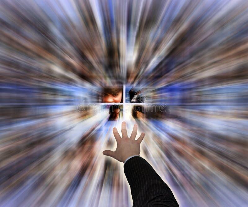 Explorateur social de medias photo libre de droits