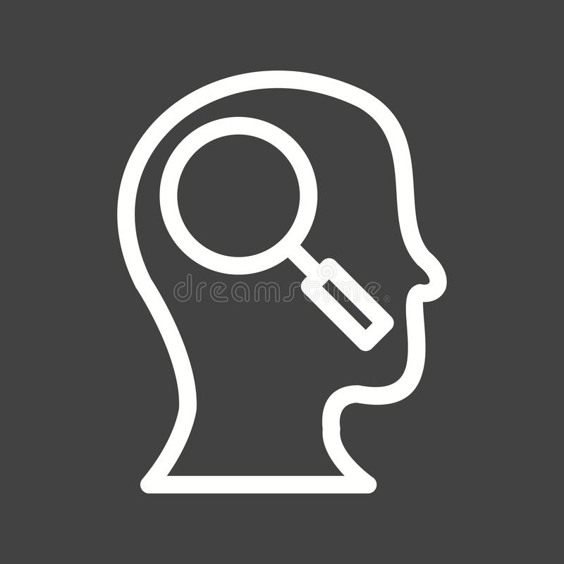 Exploration d'individu illustration stock