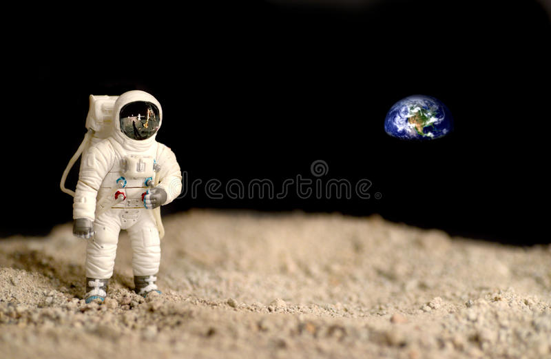 Exploration de lune photo libre de droits