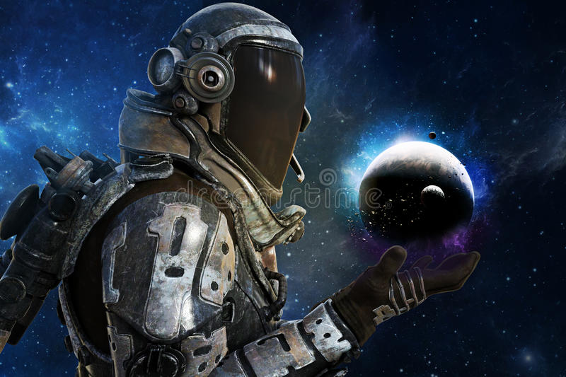 Exploration, A futuristic astronauts of the galaxy concept stock photos