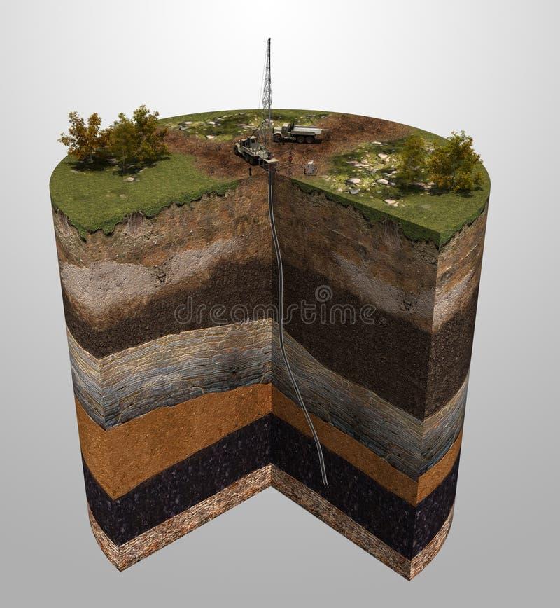 Exploration géologique de production de pétrole et de gaz image stock