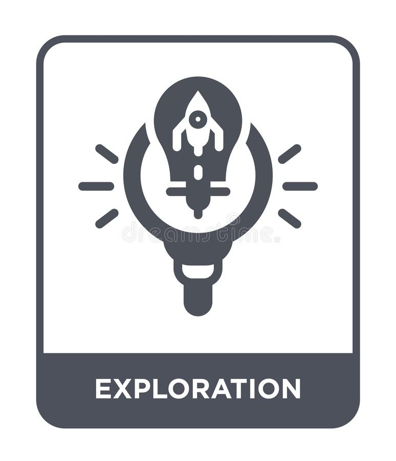exploration icon in trendy design style. exploration icon isolated on white background. exploration vector icon simple and modern stock illustration
