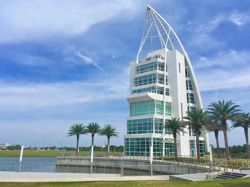 Exploration Tower, Cape Canaveral, Florida. Exploration Tower in Cape Canaveral, Florida, USA stock photos