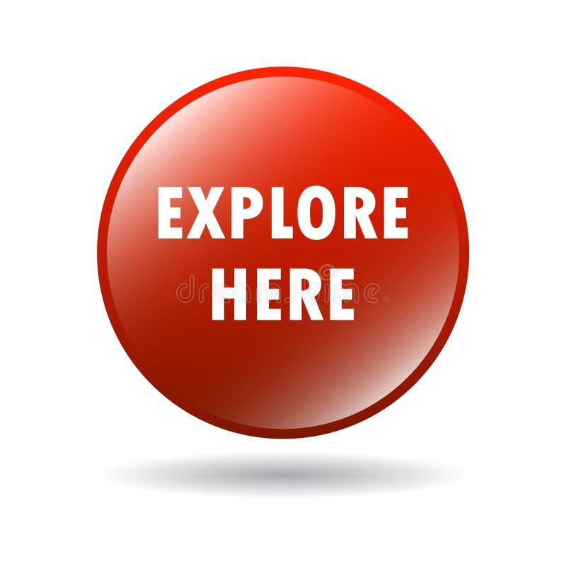 Explore aquí el botón del web stock de ilustración