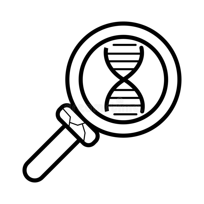 Explore DNA rounded icon royalty free illustration