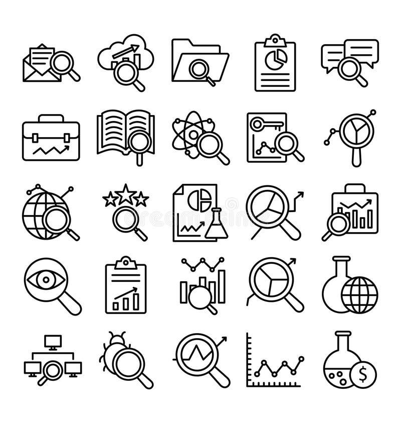 Explore e o ícone isolado análise do vetor que pode facilmente alterar ou editar ilustração do vetor