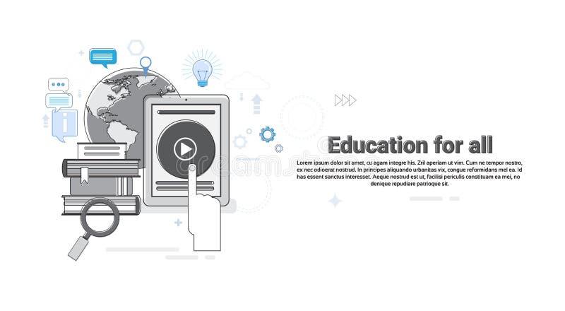 Explore el aprendizaje que web de la educación de los cursos de aprendizaje alinea ligeramente libre illustration