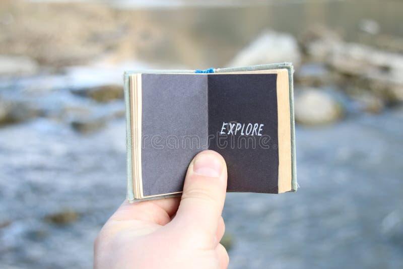 Explore el concepto de exploración de la experiencia fotografía de archivo libre de regalías
