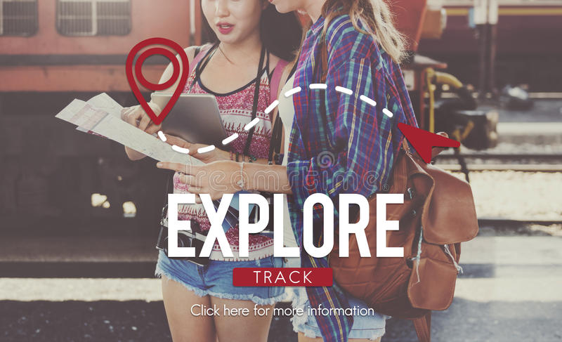 Explore Experience Journey Travel Trip Vacation Concept stock photo