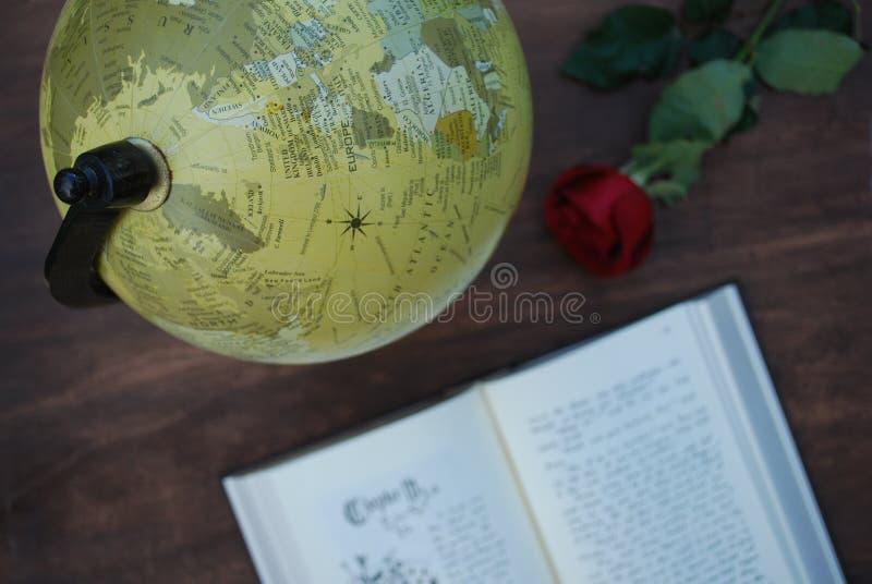 Explore the globe stock image