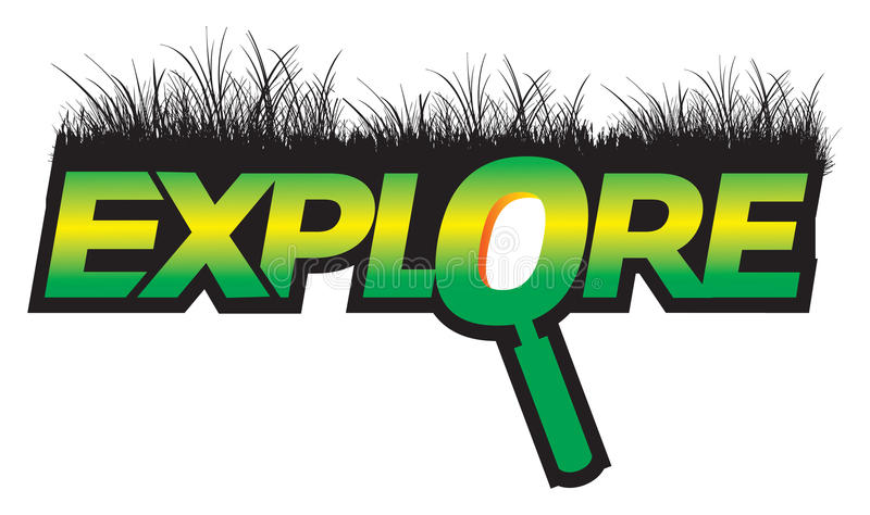 Explore Graphic Text Green Logo Royalty Free Stock Images