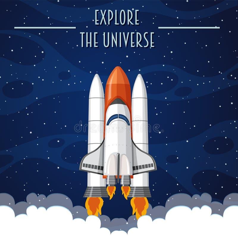Explore la plantilla del universo libre illustration