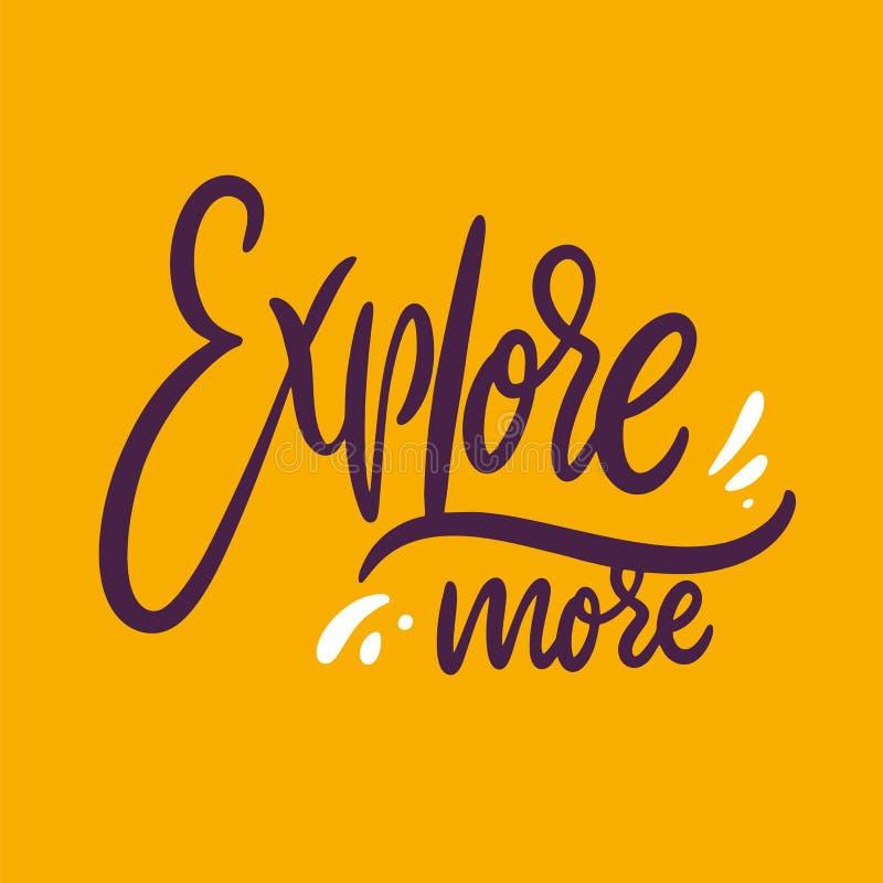 Explore m?s Letras dibujadas mano del vector Aislado en fondo amarillo stock de ilustración